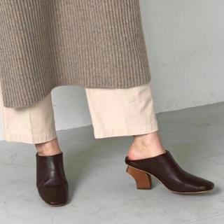 TODAYFUL - TODAYFUL Leather Square Mule レザースクエアミュール