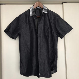 ヌメロヴェントゥーノ(N°21)のヌメロ クレリックシャツ インディゴ ショートスリーブ美品(シャツ)