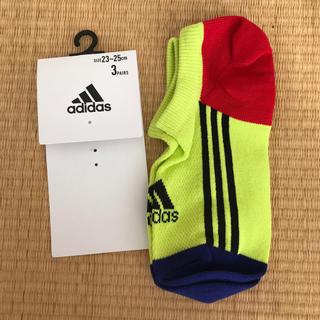 アディダス(adidas)のadidas ショートソックス 1足 サイズ23-25 (靴下/タイツ)