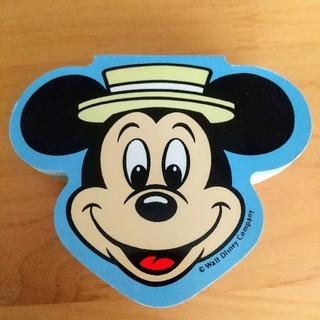 ミッキーマウス(ミッキーマウス)の【希少・新品未使用】レトロ ミッキーマウス ミッキー フェイス ブロック メモ(キャラクターグッズ)