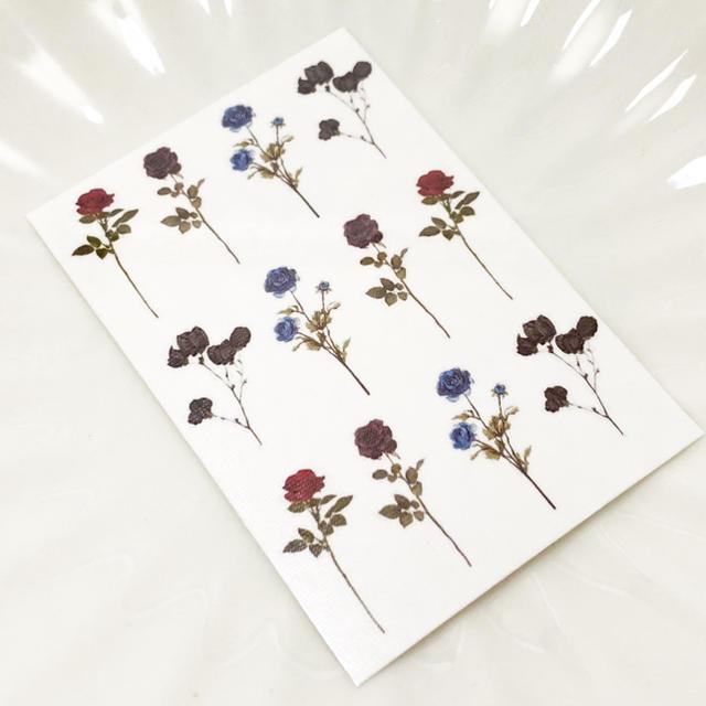 【F】タトゥーシール 韓国 お花 消えるタトゥー レディースのアクセサリー(その他)の商品写真