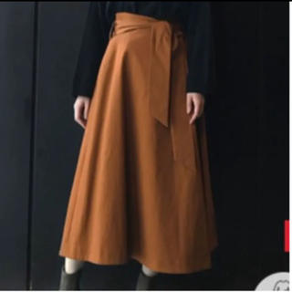 ナノユニバース(nano・universe)のロングスカート 巻きスカート キャメル 茶色(ロングスカート)