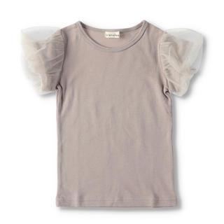 ブランシェス(Branshes)のブランシェス 110 袖チュールTシャツ(Tシャツ/カットソー)