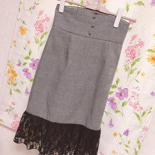 アンクルージュ(Ank Rouge)のAnkRouge♡サス付きチェックタイトスカート(ロングスカート)