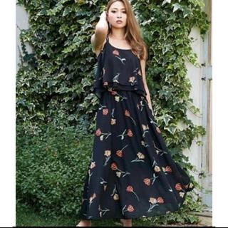 rienda - 花柄シフォンスカート