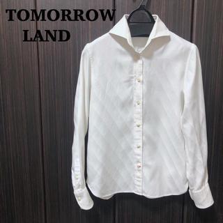 トゥモローランド(TOMORROWLAND)のトゥモローランド 白シャツ ブラウス  羽織り コットン100% 36 S(シャツ/ブラウス(長袖/七分))