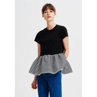 バーニーズニューヨーク(BARNEYS NEW YORK)の試着のみ BORDERS at BALCONY 裾ボーダー Tシャツ(Tシャツ(半袖/袖なし))