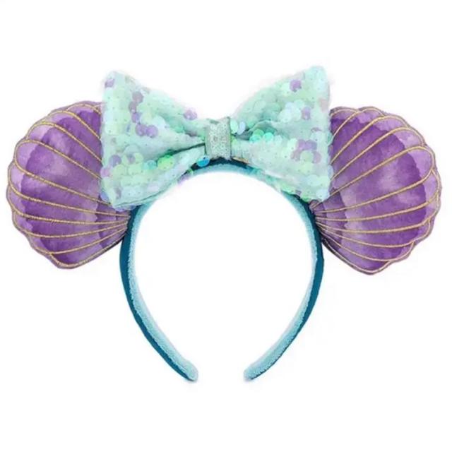 Disney(ディズニー)の海外ディズニー限定‼︎ リトルマーメイド30周年アリエル カチューシャ レディースのヘアアクセサリー(カチューシャ)の商品写真