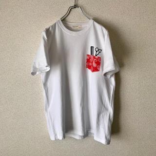 バックナンバー(BACK NUMBER)のBACK NUMBER Tシャツ 美容師風 古着(Tシャツ/カットソー(半袖/袖なし))