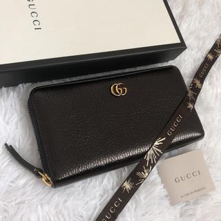 Gucci - 極美品 GUCCI グッチ 長財布 ラウンドファスナー マーモント