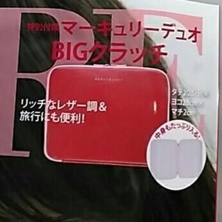 マーキュリーデュオ(MERCURYDUO)のMERCURY DUO BIG クラッチケース MORE付録(クラッチバッグ)