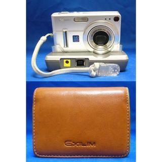 カシオ(CASIO)のCASIO コンデジ EXILIM EX-Z55 本革ケース 付属品多数ラクマ(コンパクトデジタルカメラ)