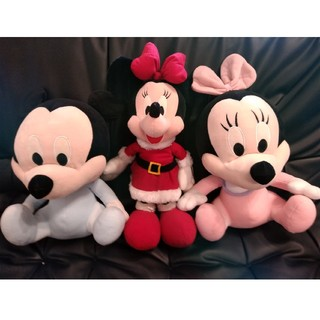 ミッキーマウス(ミッキーマウス)のぬいぐるみ3体まとめ売りミッキーマウス×1ミニーマウス×2(ぬいぐるみ)