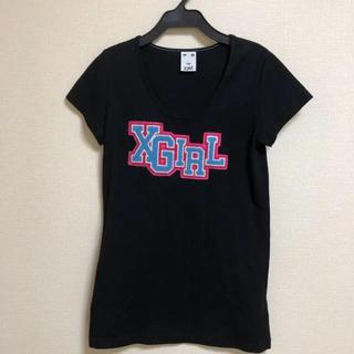 エックスガール(X-girl)のX-girl  エックスガール Tシャツ  カットソー チュニック ワンピース (Tシャツ(半袖/袖なし))