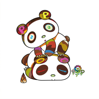 メディコムトイ(MEDICOM TOY)の村上隆 版画 パンダちゃん。ホヨヨ、スヤスヤ。(版画)