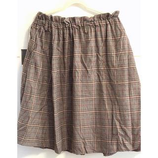 ノアンヌ  大きいサイズ   チェックのスカート(ロングスカート)