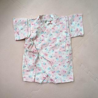 ベベ(BeBe)の甚平 ロンパース  ピンク うさぎ くろわっさんす べべ  70 美品 女の子(甚平/浴衣)
