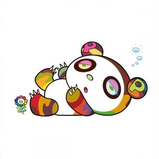 パンダちゃん、眠い眠い。 村上隆 版画 新作 ED100(版画)