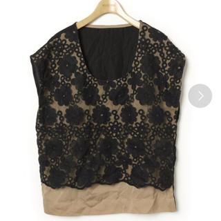 ディスコート(Discoat)のDiscoat 刺繍半袖ブラウス(シャツ/ブラウス(半袖/袖なし))