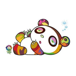 メディコムトイ(MEDICOM TOY)の村上隆 版画 パンダちゃん、眠い眠い。シルクスクリーン(版画)