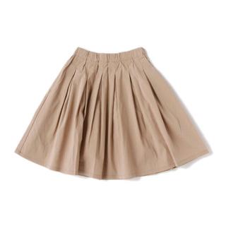 petit main - b・ROOM(ビールーム) タックプリーツスカート ベージュ 100cm