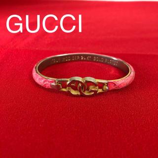 グッチ(Gucci)のオールドグッチ GUCCI バングル ブレスレット パイソン柄(ブレスレット/バングル)