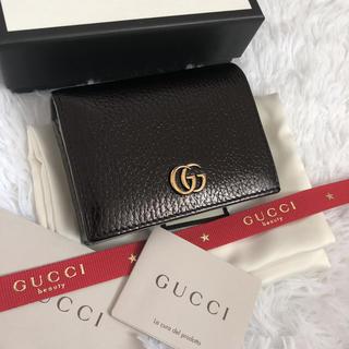 Gucci - 極美品 GUCCI グッチ 2つ折り財布 マーモント