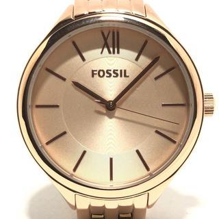 フォッシル(FOSSIL)のフォッシル 腕時計美品  - BQ3078 ゴールド(腕時計)