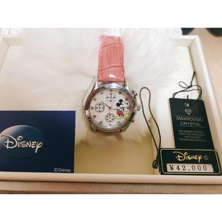 ミッキーマウス - ミッキーマウス スワロフスキー付き 時計 定価40,000-.