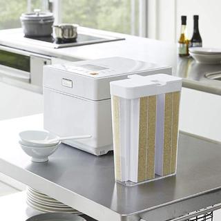 山崎実業 冷蔵庫用米びつ ライスストッカー ホワイト