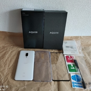 アクオス(AQUOS)のAQUOS zero2 au ミスティーホワイト極美品 8GB/256GB(スマートフォン本体)