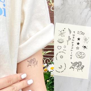 タトゥーシール 【天使】 韓国 消えるタトゥー