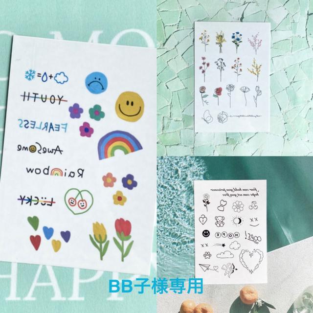 BB子様専用 タトゥーシール 韓国 レディースのアクセサリー(その他)の商品写真