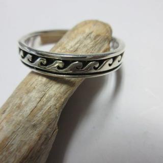 波 リング シルバー925 7号~23号 RING 指輪 サーファー d846(リング(指輪))