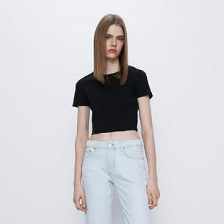 ZARA クロップド丈Tシャツ Mサイズ(Tシャツ(半袖/袖なし))