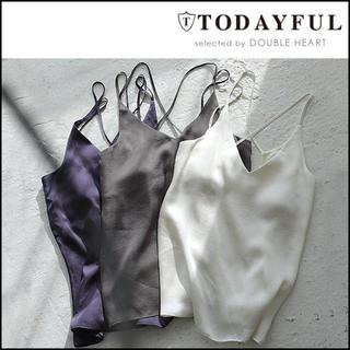 TODAYFUL - 美品 TODAYFUL バッククロスキャミソール