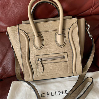 celine - 中古極美品 セリーヌ ラゲージ ナノ ショッパー バッグ