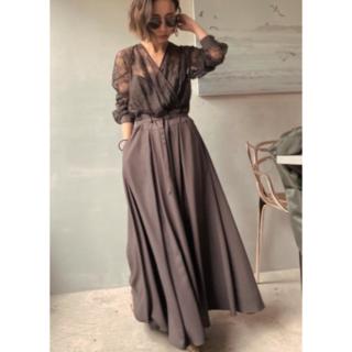 Ameri VINTAGE - LADY LACE VEIL DRESS Ameri VINTAGE ブラウン