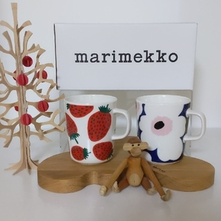 マリメッコ(marimekko)のmarimekko マグカップ 2個セット(グラス/カップ)