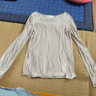 アンティカ(antiqua)のantiqua コットン 綿100% ロング Tシャツ グレー(Tシャツ(長袖/七分))