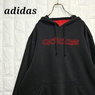 adidas - アディダス 刺繍ビッグロゴ 薄手 パーカー スウェット トレーナー