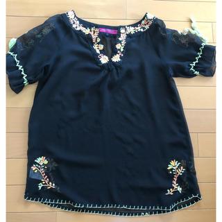 ドーリーガールバイアナスイ(DOLLY GIRL BY ANNA SUI)のドーリーガール アナスイ 刺繍トップス(シャツ/ブラウス(半袖/袖なし))