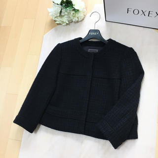 FOXEY - 【美品】FOXEY フォクシー 最高級ツイード フォーマル ジャケット 38
