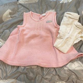 ベビーディオール(baby Dior)の18 babyDiorニットワンピースとタイツのセット(ワンピース)