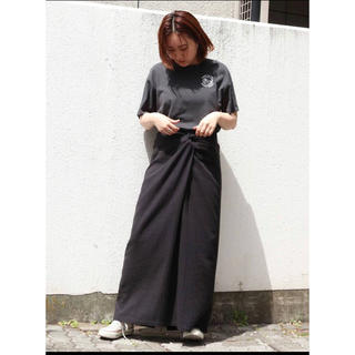 アングリッド(Ungrid)のUngrid シルクネップウエストデザインスカート(ロングスカート)
