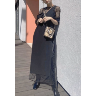 Ameri VINTAGE - Ameri TULLE DOCKING DRESS 2020SS 完売品