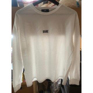 ハレ(HARE)のHARE 白Tシャツ 美品(Tシャツ/カットソー(半袖/袖なし))