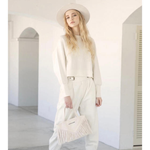 ALEXIA STAM(アリシアスタン)のalexiastam  フリンジトートバッグ 新品未使用 タグ付き 完売商品 レディースのバッグ(トートバッグ)の商品写真
