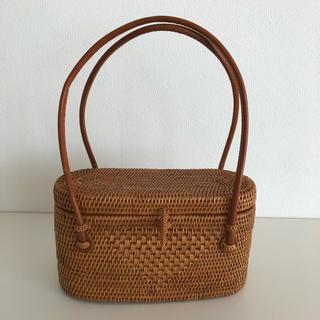 トゥモローランド(TOMORROWLAND)のバリ島アタ編みバッグ最高級品(かごバッグ/ストローバッグ)