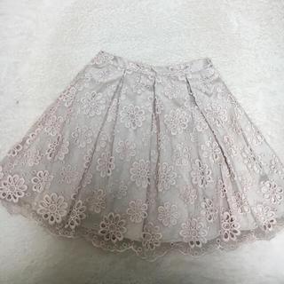 マーキュリーデュオ(MERCURYDUO)のMERCURY♡花柄レーススカート(ミニスカート)